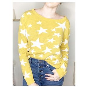 Mossimo Knit Star Sweater Yellow Small